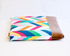 High quality handcrafted details are showcased on this cheery laptop zipper cover