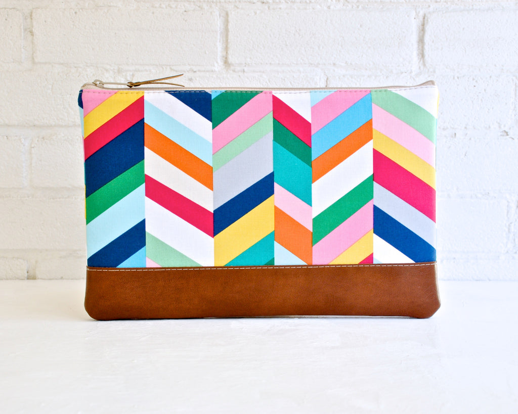 Cheerful bright chevron MacBook Pro Sleeve