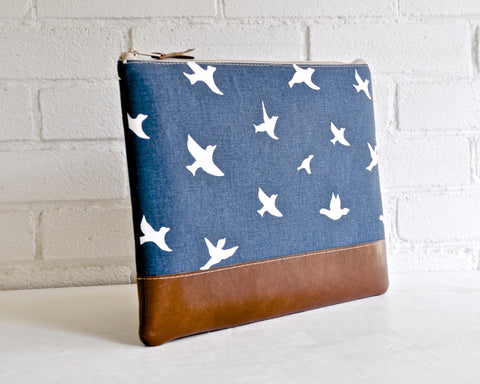 Navy Bird Laptop Case