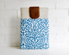Ethnic inspired ikat print laptop sleeve