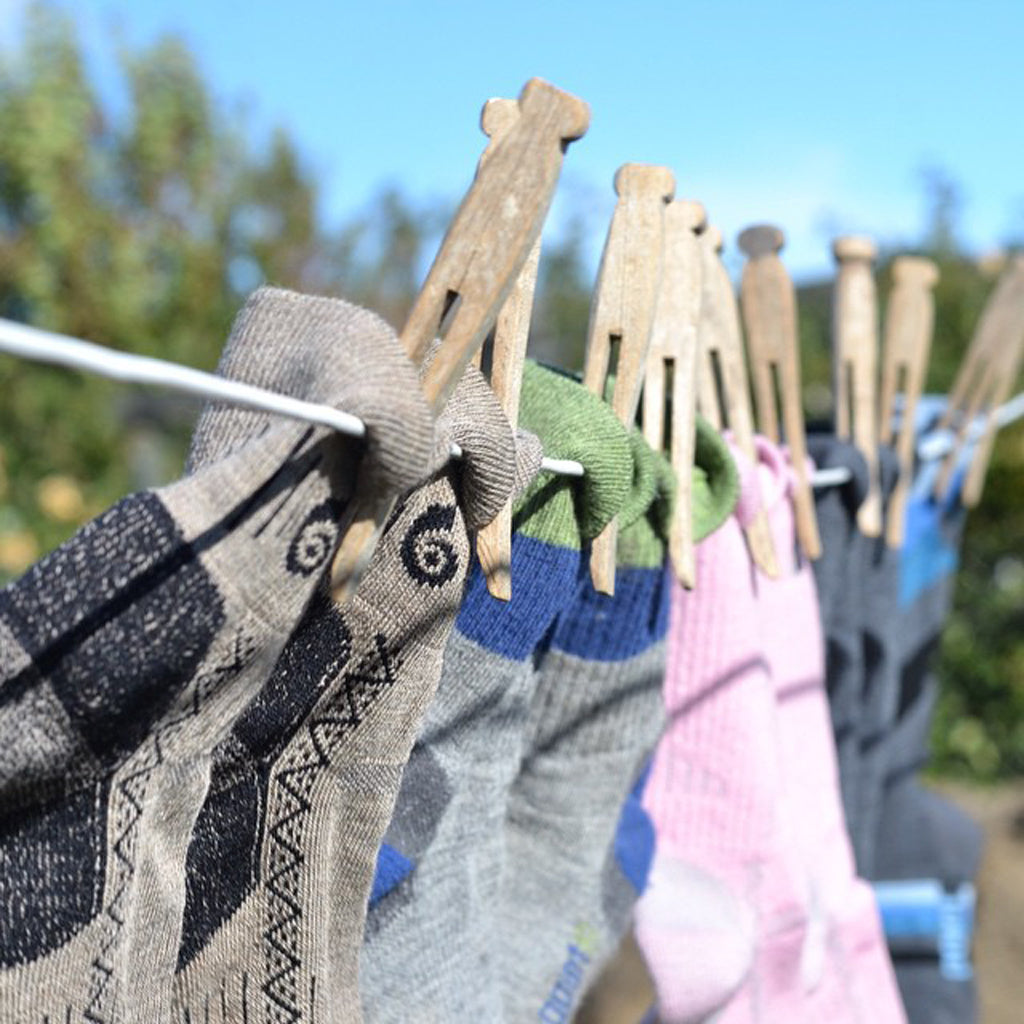 Point6 Merino Wool Socks Drying