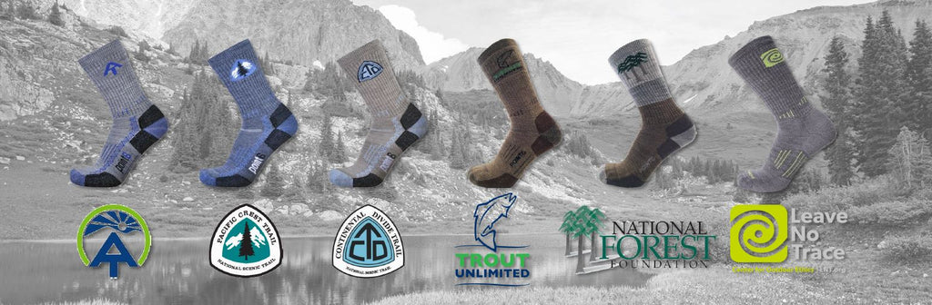 hiking socks that give back to your favorite outdoor nonprofits