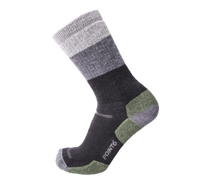 Hiking Block Stripe Medium Crew Socks, hiking socks, merino wool socks, fun design socks
