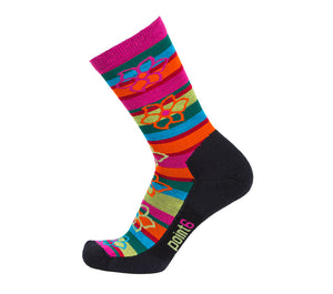 Active Life Bolivian Stripe Extra Light 3/4 Crew - Point6 Wool Socks - 1