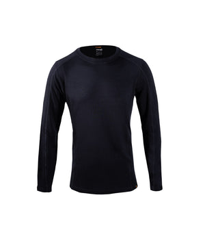 Men's Base Layer Long Sleeve Mid Crew Neck Top Merino Wool