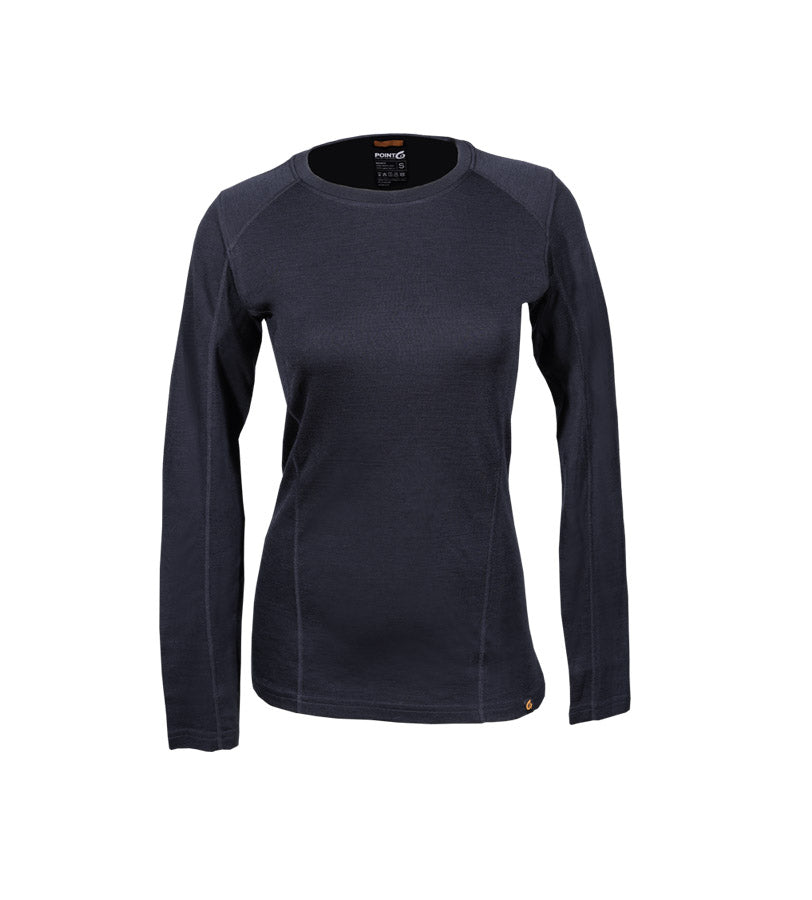 Women's Merino Wool Base Layer, Women's Long Sleeve Crew, Women's Thermal Underwear, Women's Long Johns, Women'e Merino Wool Crew Top