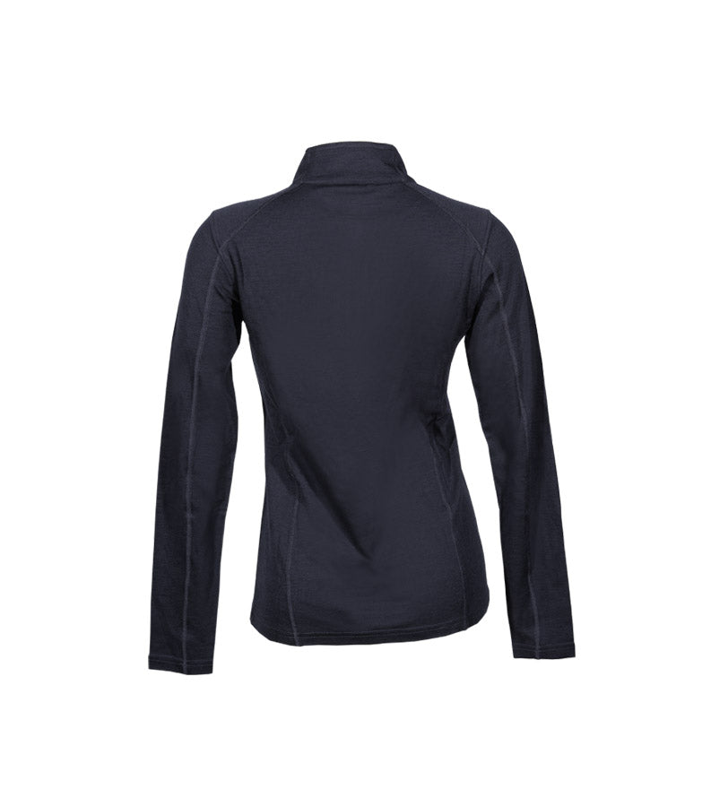 Women's Merino Wool Base Layer Long Sleeve Mid 1/4 Zip Top