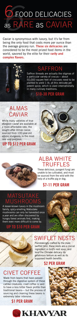 6 Food Delicacies as Rare as Caviar (Infographic)