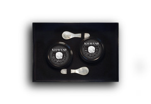Caviar Gift Set Sturgeon Hackleback and Spoonbill American