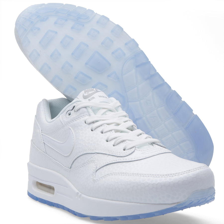 "Nike ""Air Max 1 ""White Metallic Silver"" - New"