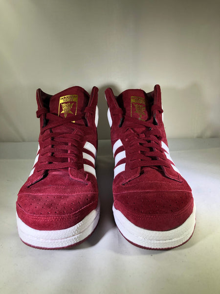 "Adidas Top Ten Hi ""Burgundy White Red"""