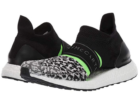 Adidas ULTRABOOST X 3D KNIT SHOES Stella McCartney BLACK WHITE / CORE WHITE / SOLAR GREEN