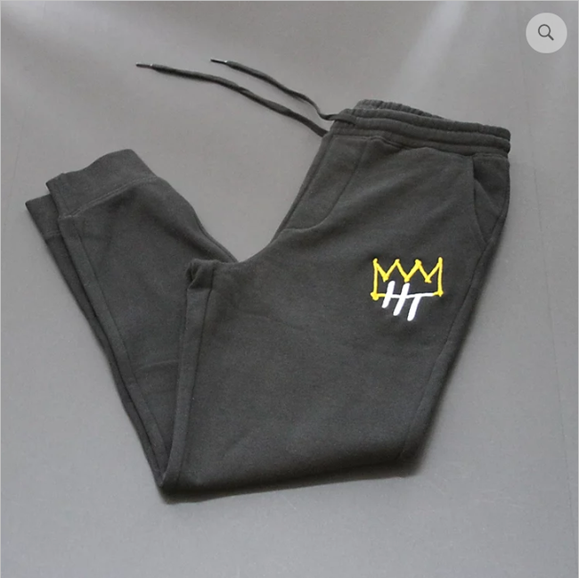 Historian Threads Crown Joggers (Black)