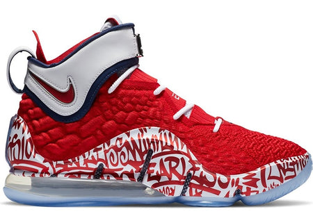 LeBron 17 Graffiti Remix Red