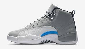 "Jordan 12 Retro ""Grey University Blue"""