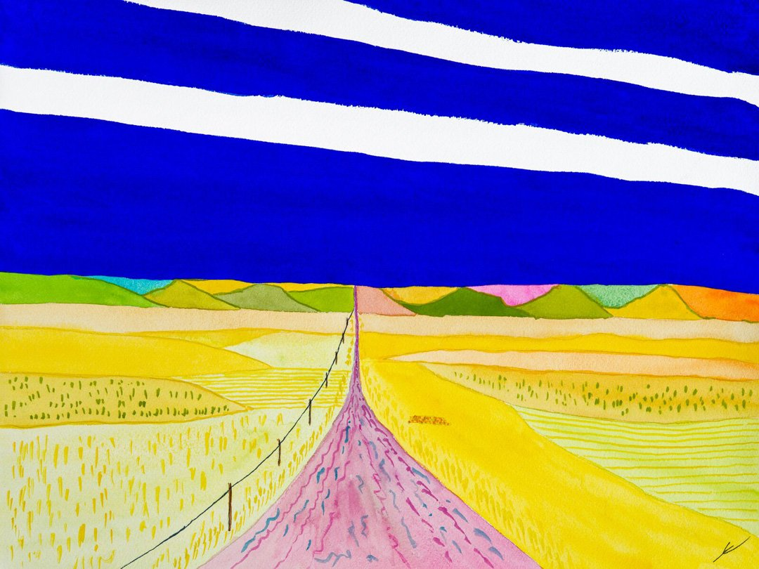 Bright Fields and Straight Road, North Dakota