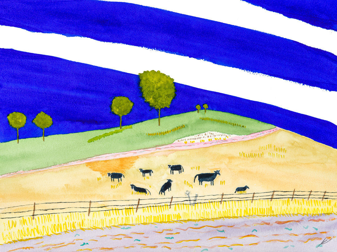 Cattle Beside a Road