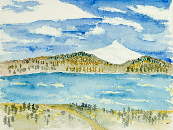 Untitled (Landscape with Mountain and Bay)