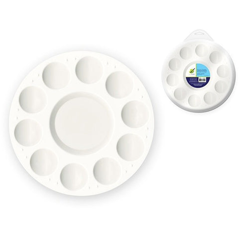 10 Well Round Plastic Palette With Lid