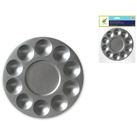 10 Well Round Metal Palette