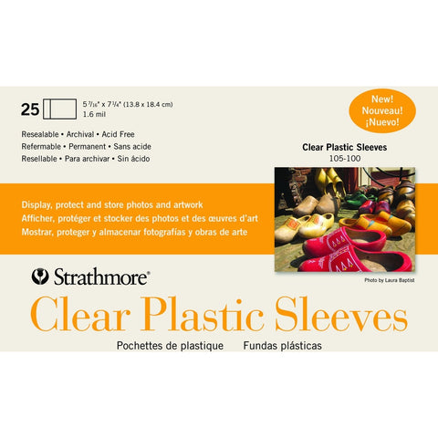 Strathmore Greeting Card Clear Plastic Sleeves