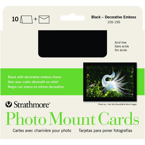 Strathmore Photo Mount Cards - Decorative Emboss