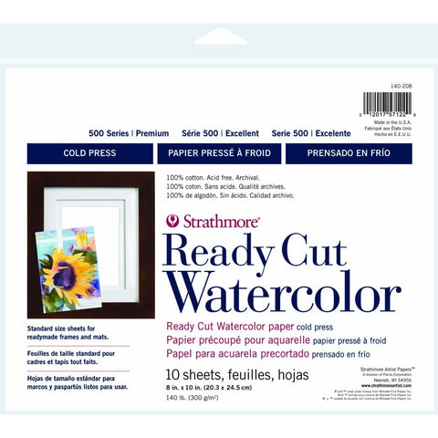 Strathmore 500 Series Ready Cut Watercolour Paper Packs