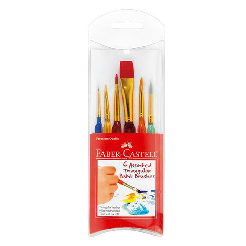 Faber-Castell Assorted Triangular Paint Brushes