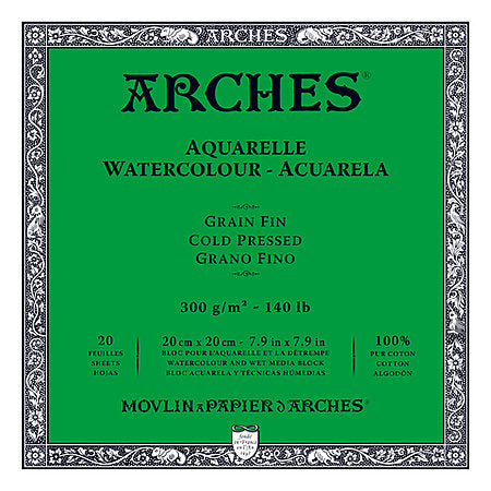 Arches 140LB Cold Press Watercolour Blocks