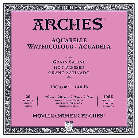 Arches 140LB Hot Press Watercolour Blocks