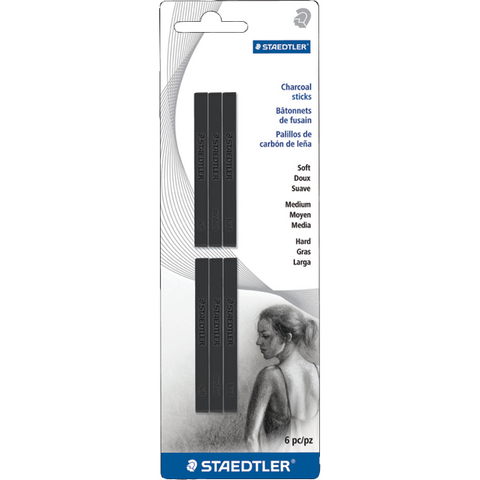Staedtler Compressed Charcoal Stick Set of 6