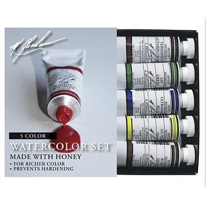 M.Graham Artist Watercolours 15ml Basic Set of 5