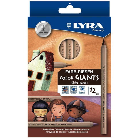Lyra Colour Giants Skin Tones Pencil Set of 12