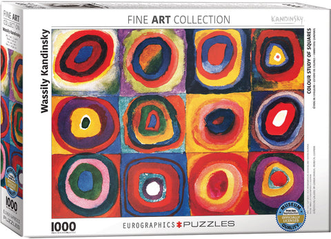 "Kandinsky ""Colour Study of Squares"" Puzzle"