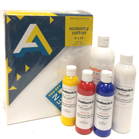 Wallack's Fluid Acrylic Pouring Kit (Level 1)