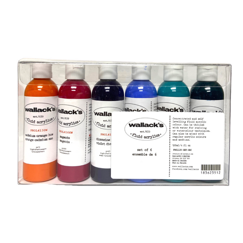 Wallack's Fluid Acrylics Secondary Set of 6