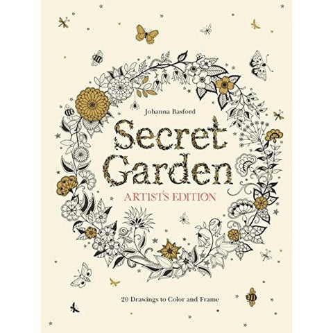 Secret Garden Artist's Edition: 20 Drawings to Colour and Frame