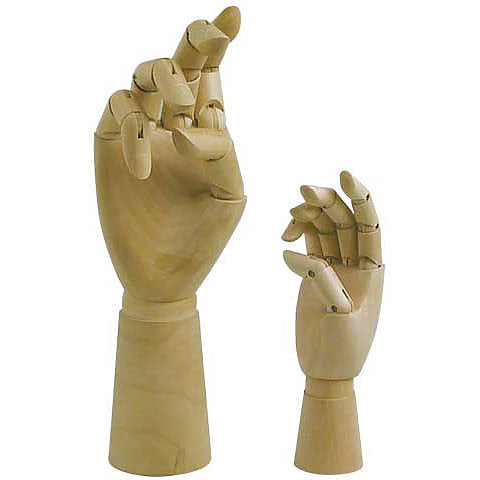 Art Alternatives Articulated Wooden Hand 7""