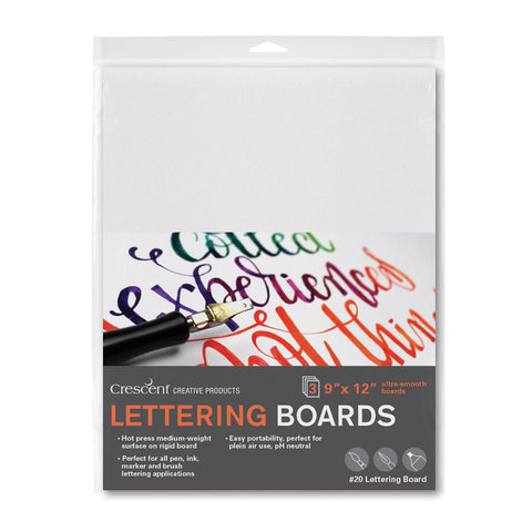 "Crescent 9"" x 12"" Lettering Board 3 Pack"