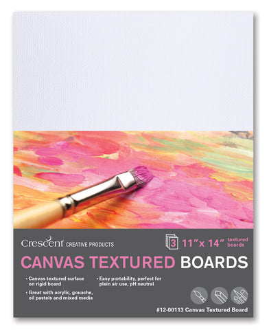 "Crescent 9"" x 12"" Medium Weight Canvas Board 3 Pack"