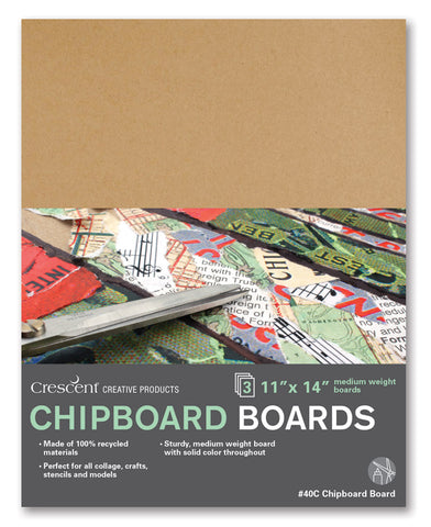 "Crescent 9"" x 12"" Chipboard 3 Pack"