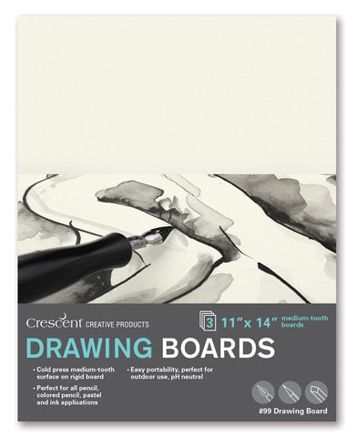 "Crescent 9"" x 12"" Drawing Board 3 Pack"
