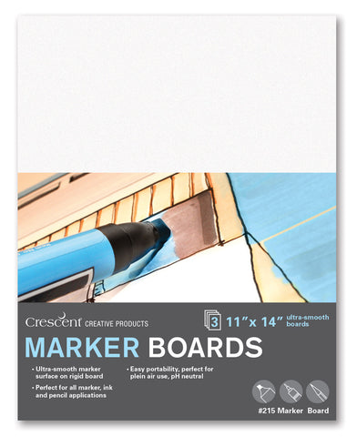 "Crescent 9"" x 12"" Medium Weight Hot Press Marker Board 3 Pack"