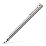 Faber-Castel Fountain Pen Neo Slim - Stainless Steel, Polished