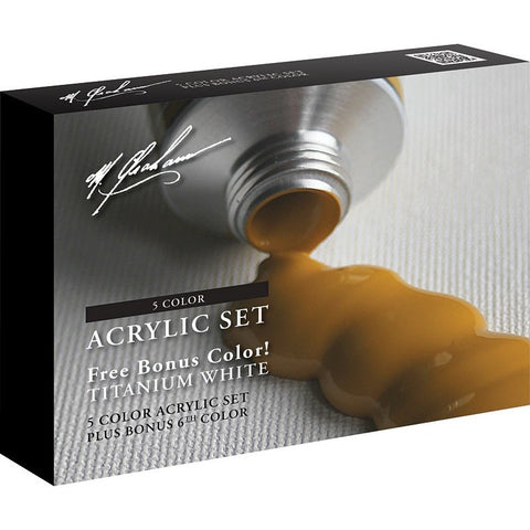 M.Graham Artist Acrylic 6 Colour Bonus Set