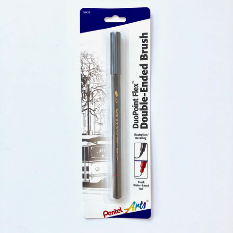 Pentel Arts DuoPoint Flex Double-Ended Brush