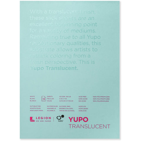 Yupo Translucent Watercolour Pads