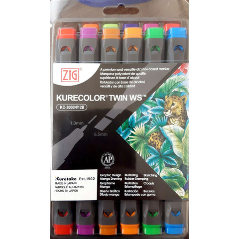 Kuretake Zig Kurecolor Twin Marker Sets of 12
