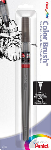 Pentel Black Fine Pigmented Color Brush Pen