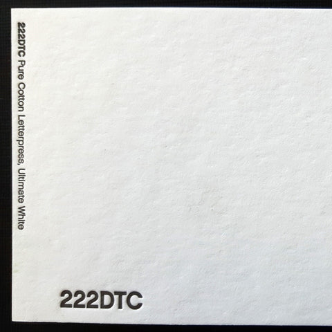 Pure Cotton Letterpress Paper 222lb